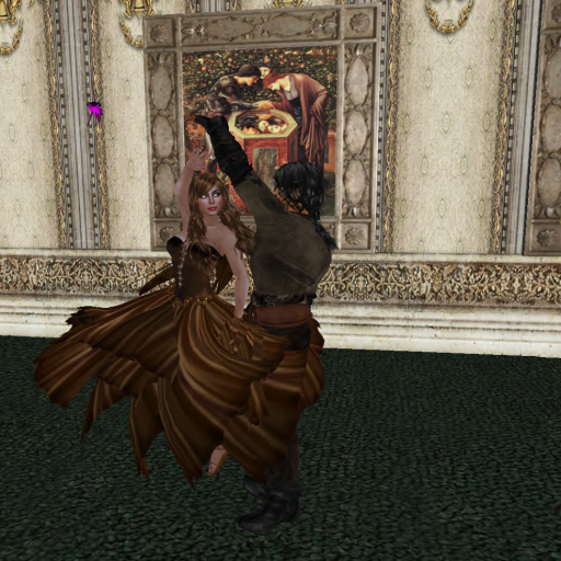 El and Zab dancing in the castle